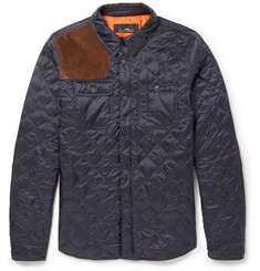 Polo Ralph Lauren Quilted Nylon and Suede Equestrian Jacket