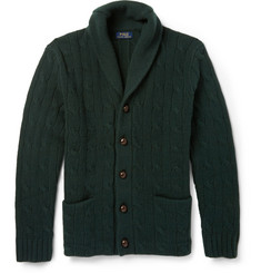 Polo Ralph Lauren Shawl-Collar Cable-Knit Wool Cardigan