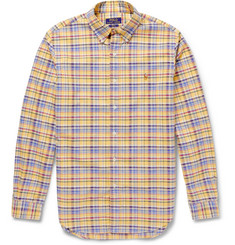 Polo Ralph Lauren Slim-Fit Button-Down Collar Check Cotton Oxford Shirt