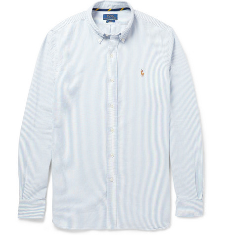 Polo Ralph Lauren Slim-Fit Striped Cotton Oxford Shirt