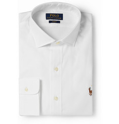 Polo Ralph Lauren White Slim-Fit Cotton Dress Shirt