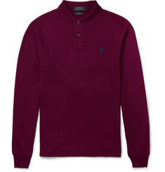 Polo Ralph Lauren Slim-Fit Cotton-Blend Piqué Polo Shirt