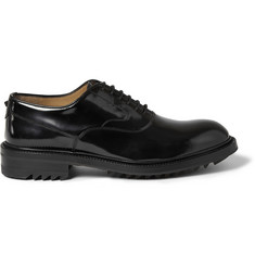 Valentino Polished-Leather Oxford Shoes