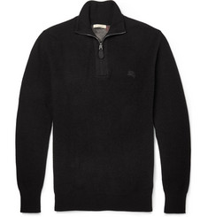 Burberry Brit Ribbed-Knit Cotton and Cashmere-Blend Sweater