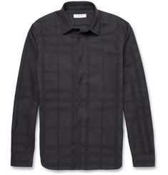 Burberry London Tonal-Check Cotton Shirt