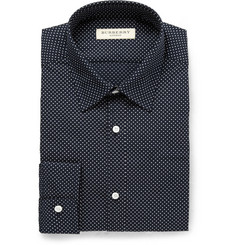 Burberry London Navy Printed Cotton Shirt
