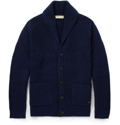 Burberry London Cashmere and Wool-Blend Shawl-Collar Cardigan