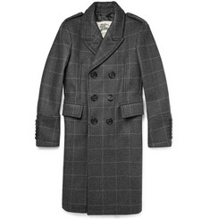Burberry London Slim-Fit Prince Of Wales Check Wool and Cashmere-Blend Overcoat