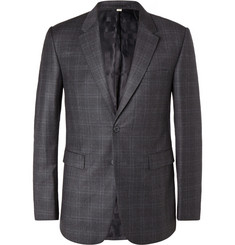 Burberry London Checked Wool Blazer