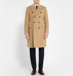 Paul Smith London Double-Breasted Wool-Cashmere Overcoat