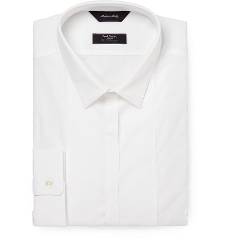 Paul Smith London White Slim-Fit Bib-Front Cotton Shirt