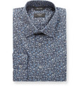 Paul Smith London Navy Flower-Print Cotton Shirt