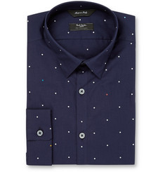 Paul Smith London Navy Slim-Fit Printed Cotton Shirt