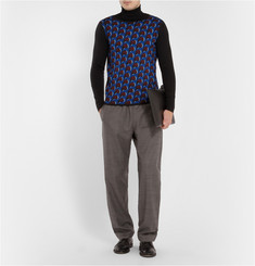 J.W.Anderson Patterned Merino Wool Crew Neck Sweater