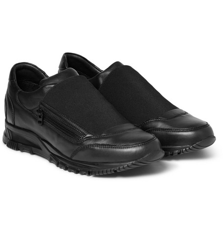 Lanvin Elasticated Leather Sneakers