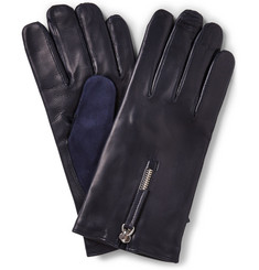 WANT Les Essentiels de la Vie Mozart Cashmere-Lined Leather and Suede Gloves