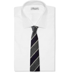 Drake's Striped Silk, Mohair and Wool-Blend Tie