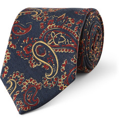 Drake's Paisley-Patterned Silk Tie