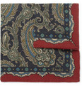 Drake's - Paisley-Print Wool and Silk-Blend Pocket Square