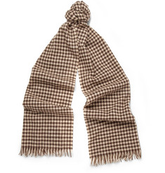 Drake's Gingham Cashmere Scarf