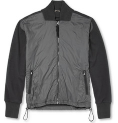 Bottega Veneta Panelled Wool Lightweight Bomber Jacket