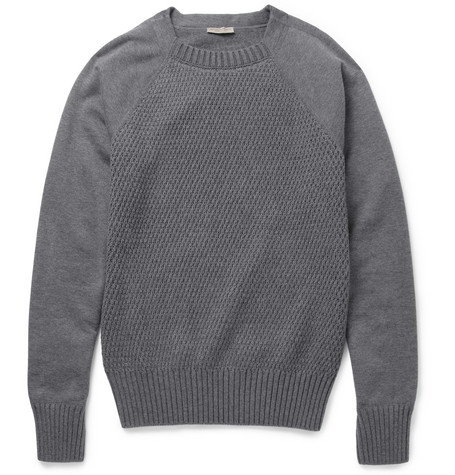 Bottega Veneta Contrast-Front Cotton-Blend Sweater