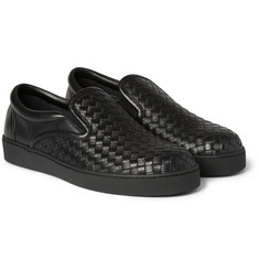 Bottega Veneta - Intrecciato Leather Slip-On Sneakers