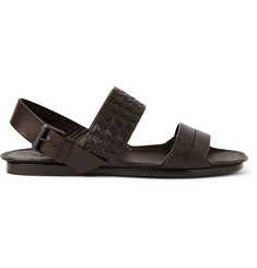 Bottega Veneta Intrecciato Multi-Strap Leather Sandals