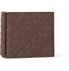 Bottega Veneta Intrecciato Leather Money Clip Wallet