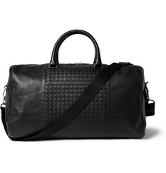 Bottega Veneta Intrecciato-Panelled Leather Holdall Bag