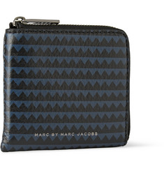 Marc by Marc Jacobs Printed Leather Half-Zip Wallet
