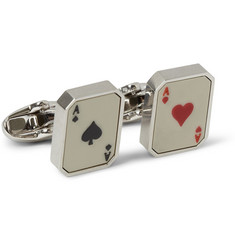 Paul Smith Shoes & Accessories Steel-Plated Playing Card Cufflinks