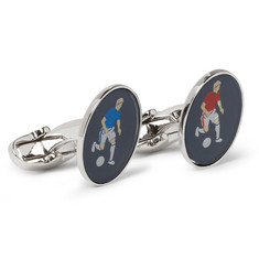 Paul Smith Shoes & Accessories Footballers Resin and Metal T-Bar Cufflinks
