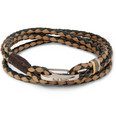 Paul Smith Shoes & Accessories Woven-Leather Wrap Bracelet