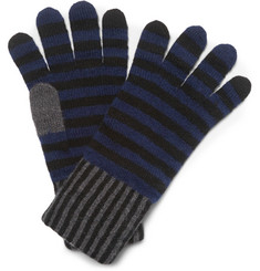 Paul Smith Shoes & Accessories Striped Wool Gloves