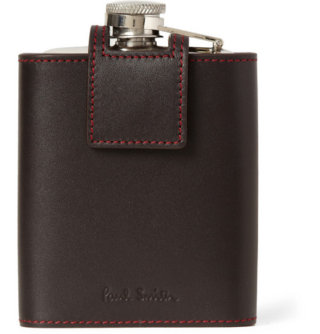 Paul Smith Shoes & Accessories Leather-Cased Steel Hip Flask