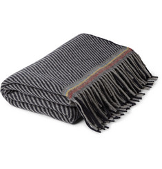 Paul Smith Shoes & Accessories Patterned Cashmere and Wool-Blend Blanket