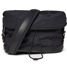 Paul Smith Shoes & Accessories Leather-Trimmed Grosgrain Messenger Bag
