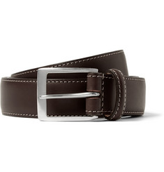 Paul Smith Shoes & Accessories Brown 3cm Pin-Up Print-Lined Leather Belt