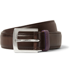 Paul Smith Shoes & Accessories Brown 3cm Burnished-Leather Belt