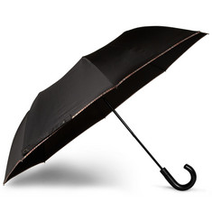 Paul Smith Shoes & Accessories Stripe-Trimmed Automatic Collapsible Umbrella