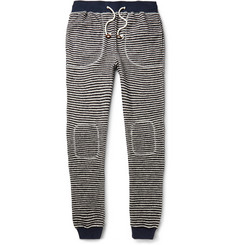 Band of Outsiders Striped Loopback Cotton-Blend Sweatpants