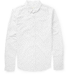 Band of Outsiders Slim-Fit Printed Oxford Cotton Shirt