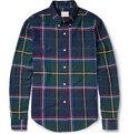 Band of Outsiders Plaid Button-Down Collar Cotton-Flannel Shirt