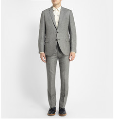Band of Outsiders Black and Off-White Houndstooth Wool Suit Jacket