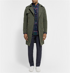 Band of Outsiders Brushed-Gabardine Trench Coat