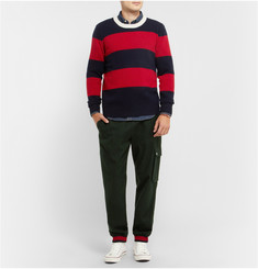 Band of Outsiders Wool and Cotton-Blend Cargo Sweatpants