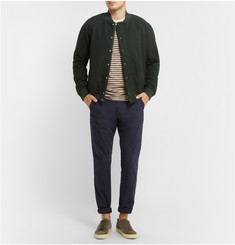 Band of Outsiders Brushed Wool and Cotton-Blend Bomber Jacket