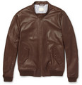 Band of Outsiders Leather Bomber Jacket