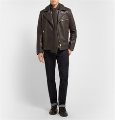 Richard James Full-Grain Leather Biker Jacket